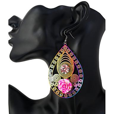 Pentru femei Cercei Picătură Bijuterii La modă Personalizat Teak Geometric Shape Bijuterii Pentru Ieșire