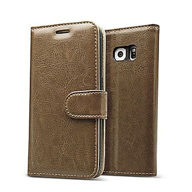 luxus valódi bőr flip-kártya pénztárca tok Samsung Galaxy S7 / s7 él