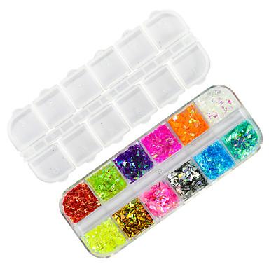 1 pcs Unghiul de bijuterii / Paiete / Glitter de unghii Elegant & Luxos / Strălucitor & Sclipitor Design Modern / Paiete / Spumos Party /