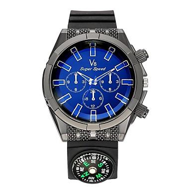 Bărbați Ceas Sport Ceas de Mână Ceas Casual Chineză Quartz Busolă Silicon Cauciuc Bandă Casual Negru