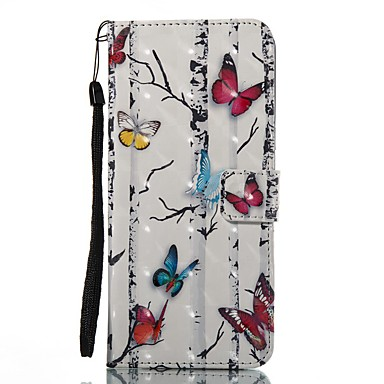 Case For Samsung Galaxy S8 Plus S8 Card Holder Wallet with Stand Flip Pattern Full Body Cases Butterfly Hard PU Leather for S8 Plus S8 S7