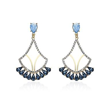 Pentru femei Cercei Picătură Diamant sintetic Gotic Clasic Ștras Aliaj Geometric Shape Bijuterii Pentru Crăciun Club