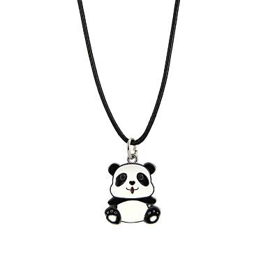 Bărbați Pentru femei Adorabil Panda Coliere cu Pandativ  -  Design Animal Negru Coliere Pentru Petrecere Club
