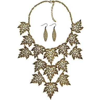 Pentru femei Leaf Shape Geometric Shape Floare Personalizat Vintage De Bază Multistratificat Coliere cu Pandativ Coliere Layered Aliaj