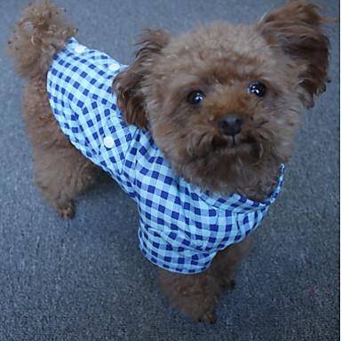 Câine Tricou Îmbrăcăminte Câini Casul/Zilnic Tartan/Carouri Albastru