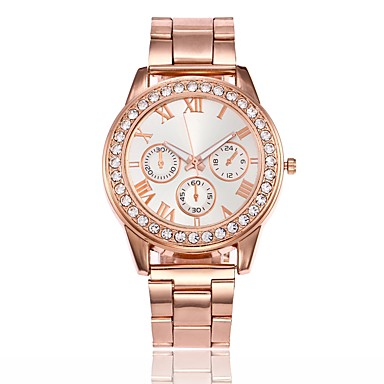 Pentru femei Quartz Unic Creative ceas Ceas de Mână Ceas Elegant  Ceas La Modă Chineză cald Vânzare Aliaj Bandă Casual Argint Auriu Roz