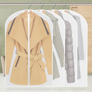 9pcs îngroșarea transparentă haine de depozitare haine costum praf impermeabil atârnă stil aleatoare