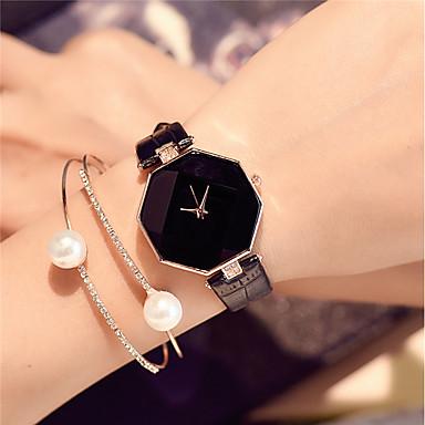 b9c1b68e0 رخيصةأون ساعات النساء-نسائي ساعات فاشن ساعة المعصم كوارتز جلد اصطناعي أسود  / الأبيض /