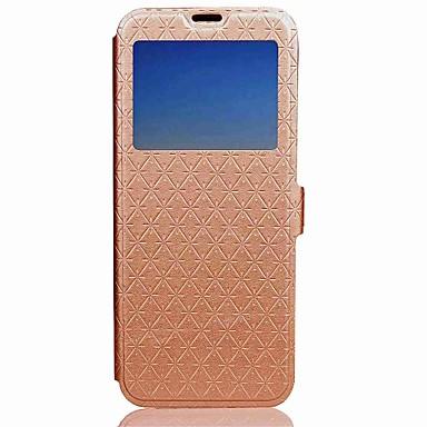Недорогие Чехлы и кейсы для Galaxy Note 3-Кейс для Назначение SSamsung Galaxy Note 8 / Note 4 / Note 3 Кошелек / Бумажник для карт / со стендом Чехол Однотонный Твердый Кожа PU