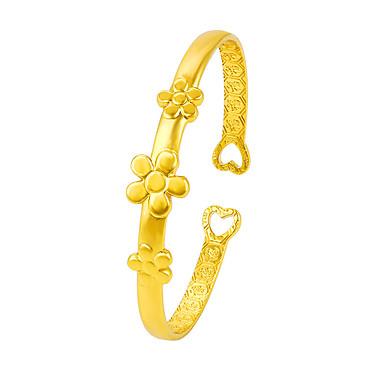 Pentru femei Brățări Bantă Floral Stil Floral Flori Ajustabile Placat Auriu Floare Margaretă Bijuterii Pentru Casual