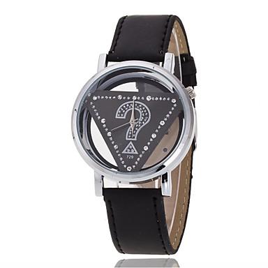 Pentru femei Ceas La Modă / Ceas de Mână / Simulat Diamant Ceas Chineză PU Bandă Charm / Casual / Elegant Negru / Alb / Roșu