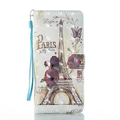 Maska Pentru Samsung Galaxy Note 8 Titluar Card Portofel Cu Stand Întoarce Magnetic Model Carcasă Telefon Turnul Eiffel Greu PU piele