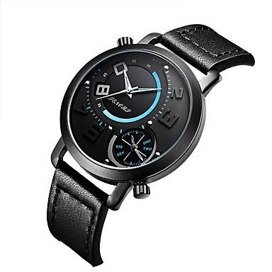 577c28854998 Mujer Reloj de Pulsera Japonés Cuero Auténtico Negro   Marrón 30 m  Resistente al Agua Calendario