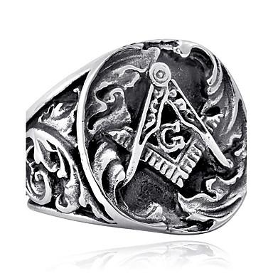 Men's High School Rings freemason Ring Stainless Steel