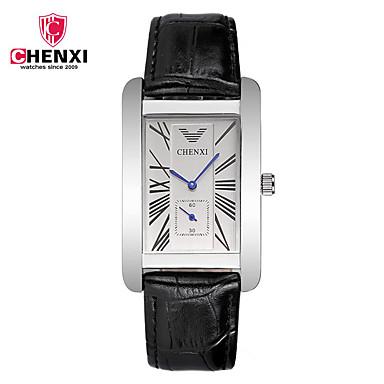 CHENXI® Bărbați Ceas Elegant  Ceas La Modă Chineză Quartz Ceas Casual Piele Bandă Casual Cool Negru Maro