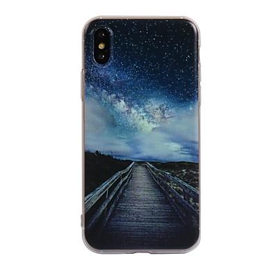케이스 제품 Apple iPhone X / iPhone 8 패턴 뒷면 커버 풍경 소프트 TPU 용 iPhone X / iPhone 8 Plus / iPhone 8