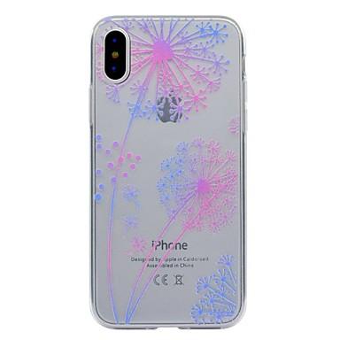 Pentru iPhone X iPhone 8 iPhone 8 Plus Carcase Huse Transparent Model Carcasă Spate Maska Păpădie Moale TPU pentru Apple iPhone X iPhone