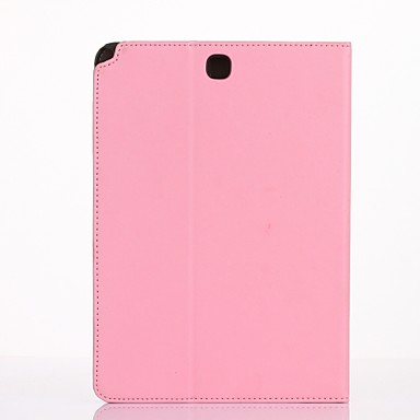 For Case Cover Card Holder Wallet with Stand Flip Auto Sleep/Wake Up Full Body Case Solid Color Hard PU Leather for Samsung Galaxy Tab A