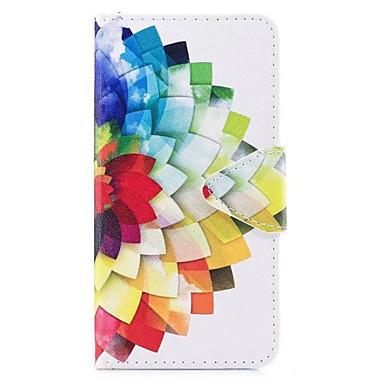 Capinha Para Samsung Galaxy J7 (2017) J3 (2017) Porta-Cartão Carteira Com Suporte Flip Estampada Capa Proteção Completa Flor Rígida PU