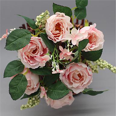 1448843a8 [€10.99] 1 gren silke roser bordplate blomst dekorere kunstige blomster