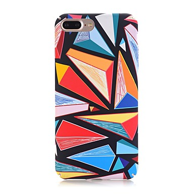 Case For Apple iPhone X iPhone 8 Frosted Pattern Back Cover Geometric Pattern Hard PC for iPhone X iPhone 8 Plus iPhone 8 iPhone 7 Plus