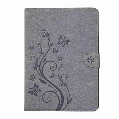 billige Tabletetuier-Etui Til Samsung Galaxy / Tab A 8.0 Fuldt etui / Tablet Etuier Sommerfugl / Blomst Hårdt PU Læder for Samsung Galaxy