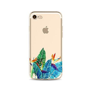 Capinha Para Apple iPhone X / iPhone 8 Transparente / Estampada Capa traseira Árvore Macia TPU para iPhone X / iPhone 8 Plus / iPhone 8