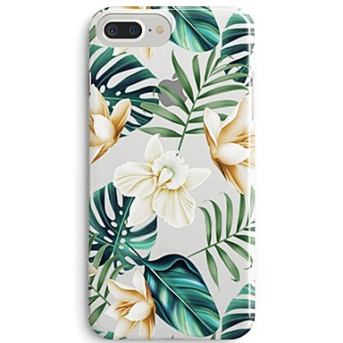 Coque Pour Apple iPhone X / iPhone 8 Ultrafine / Transparente / Motif Coque Arbre / Fleur Flexible TPU pour iPhone 8 Plus / iPhone 8 / iPhone SE / 5s