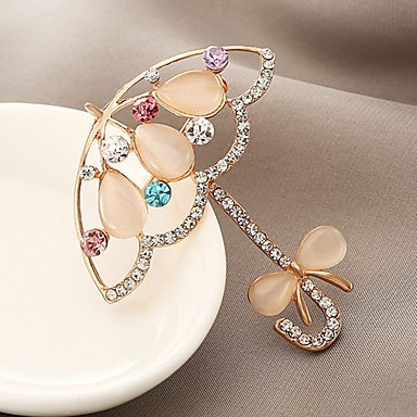 5b2bacfd8cb cheap Brooches-Women's Synthetic Diamond Brooches Ladies Classic  Zircon Brooch Jewelry