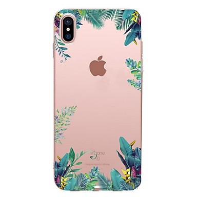 Case Kompatibilitás Apple iPhone X / iPhone 8 / iPhone 8 Plus Átlátszó / Minta Fekete tok Fa Puha TPU mert iPhone XS / iPhone XR / iPhone XS Max