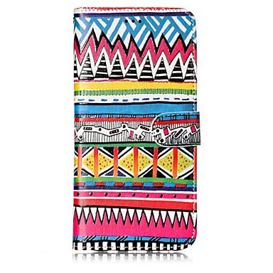 Недорогие Чехлы и кейсы для Galaxy S6-Кейс для Назначение SSamsung Galaxy S8 Plus / S8 / S7 edge Кошелек / Бумажник для карт / со стендом Чехол Полосы / волосы Твердый Кожа PU