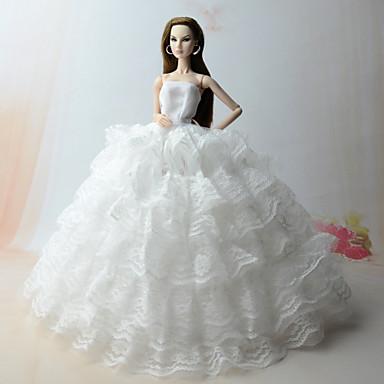 64155b4e50b4 Γάμος Φορέματα Για Barbiedoll Δαντέλα   Organza Φόρεμα Για Κορίτσια κούκλα  παιχνιδιών