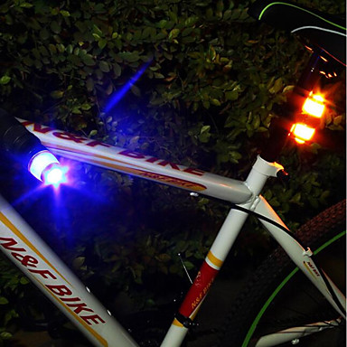 cheap Bike Lights-Bike Light Rear Bike Tail Light Safety Light Tail Light Cycling Waterproof Portable Professional Button Battery Camping / Hiking / Caving Everyday Use Cycling / Bike / Multiple Modes
