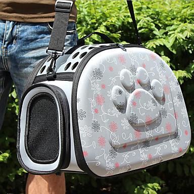قط كلب الحاملة حقائب تحمل على الظهر وللسفر حيوانات أليفة حاملات متنفس الحب رمادي زهري