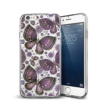 voordelige iPhone X hoesjes-hoesje Voor Apple iPhone X / iPhone 8 Plus / iPhone 8 Patroon Achterkant Vlinder Zacht TPU