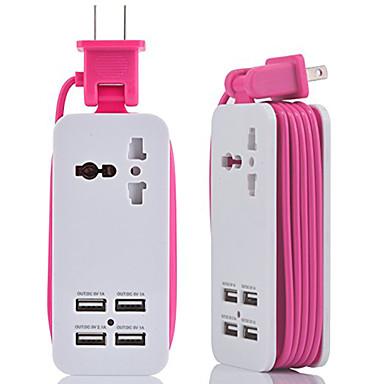 billige Smarthjem-hzn402 mobiltelefon oplader multifunktionsstik usb oplader 4usb multi-port rejsestik