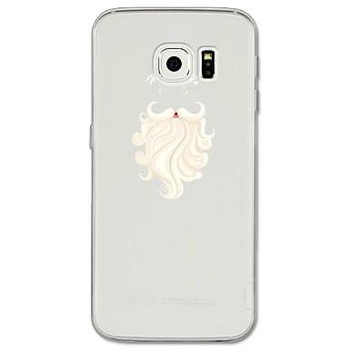 Недорогие Чехлы и кейсы для Galaxy S6 Edge-Кейс для Назначение SSamsung Galaxy S8 Plus / S8 / S7 edge С узором Кейс на заднюю панель Мультипликация / Рождество Мягкий ТПУ
