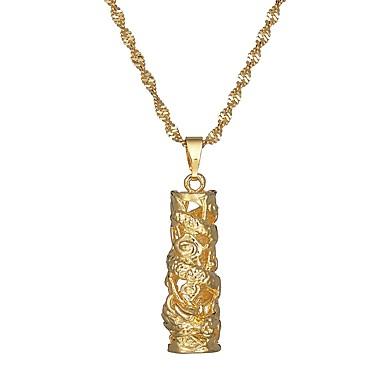 economico Collana-Per donna Basi per ciondoli e / o pendenti Twist Circle Asiatico Etnico Spilla Gioielli Oro Per Carnevale Festival