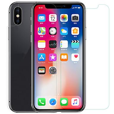 voordelige iPhone X screenprotectors-AppleScreen ProtectoriPhone X High-Definition (HD) Voorkant- & achterkantbescherming 1 stuks Gehard Glas