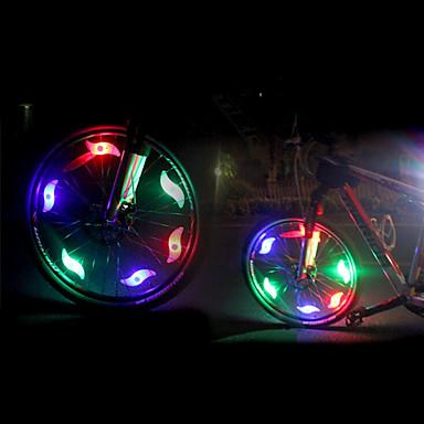 economico Luci bici-LED Luci bici luci di sicurezza LED Ciclismo Luminoso CR2032 200 lm Batteria CR2032 Rosso Blu Verde Ciclismo