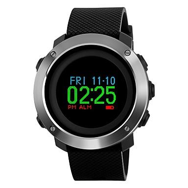 Χαμηλού Κόστους Ανδρικά ρολόγια-SKMEI Ανδρικά Αθλητικό Ρολόι Ρολόι Καρπού Ψηφιακό ρολόι Ιαπωνικά Ψηφιακό Συνθετικό δέρμα με επένδυση Μαύρο 50 m Ανθεκτικό στο Νερό Συναγερμός Ημερολόγιο Ψηφιακό Πολυτέλεια Πολύχρωμα - Μαύρο / Πυξίδα