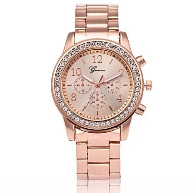 저렴한 남성용 시계-남성용 여성용 패션 시계 손목 시계 다이아몬드 시계 석영 로즈 골드 도금 메탈 로즈 골드 캐쥬얼 시계 아날로그 사치 - 골드 실버 로즈 골드 1 년 배터리 수명