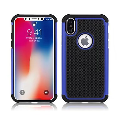 voordelige iPhone-hoesjes-hoesje Voor Apple iPhone X / iPhone 8 Plus / iPhone 8 Schokbestendig Achterkant Schild Hard Siliconen
