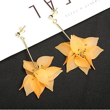 9673eeea1be8 abordables Pendientes-Mujer Borlas Lámparas Araña Largo Pendientes  colgantes Pendients de aro Aretes Floral