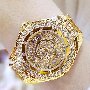 povoljno Ženski satovi-Žene Luxury Watches Ručni satovi s mehanizmom za navijanje Diamond Watch Japanski Nehrđajući čelik Srebro / Zlatna 30 m Analog dame Bling Bling - Zlato Pink