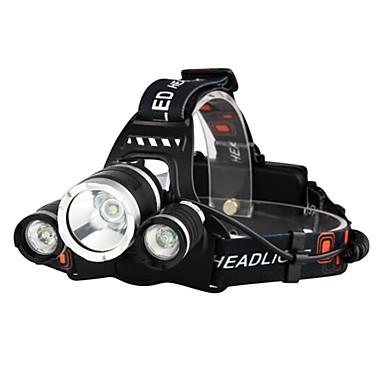 levne Čelovky-LED Světla na kolo Čelovky Světla na kolo Přední světlo Cree® XM-L T6 Cyklistika Voděodolné Odolný proti nárazům Dobíjecí 18650 3000 lm Baterie Kempování a turistika Každodenní použití Policie a