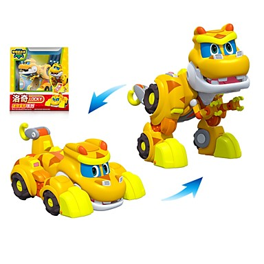Robot Toy Boat Race Car Vehicles Dinosaur Animal Transformable Animals Parent-Child Interaction Animal Soft Plastic Kid's Toy Gift 1 pcs