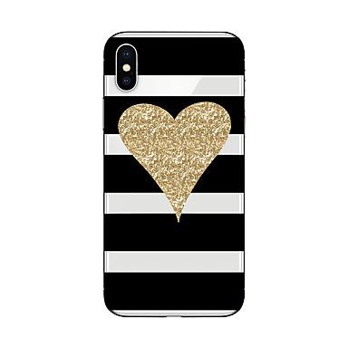 Кейс для Назначение Apple iPhone X / iPhone 8 С узором Кейс на заднюю панель Полосы / волосы / С сердцем / Сияние и блеск Мягкий ТПУ для iPhone X / iPhone 8 Pluss / iPhone 8