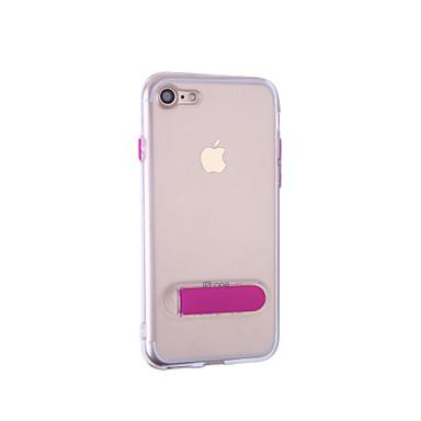 coque pour apple iphone 7 iphone 7 plus avec support coque int grale couleur pleine flexible. Black Bedroom Furniture Sets. Home Design Ideas