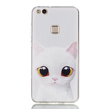 voordelige Huawei Y-serie hoesjes / covers-hoesje Voor Huawei Honor 7 / Huawei P9 Lite / Huawei Honor 5C P10 Lite / P10 / Huawei P9 Lite Ultradun / Patroon Achterkant Kat Zacht TPU